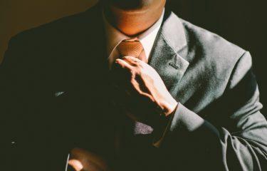 mężczyzna, garnitur, krawat